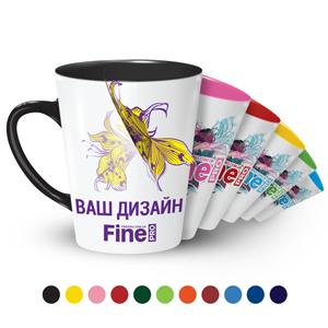 Печать на цветной чашке Latte вашего фото