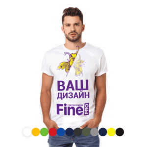 Печать на футболке мужской
