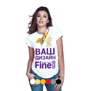 Печать на футболке женской