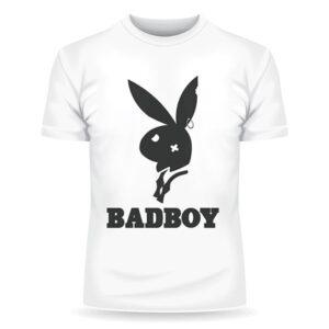 Футболка с принтом кролика из плейбоя и надпись badboy