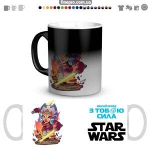 """Чашка хамелеон """"Star Wars"""" - Тано"""