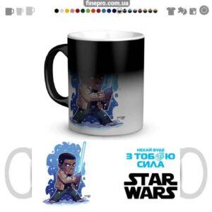 """Чашка хамелеон """"Star Wars"""" - Финн"""