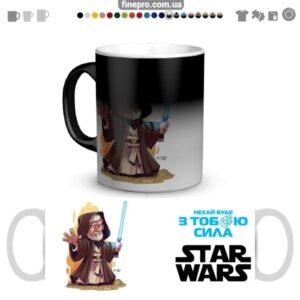 "Чашка хамелеон ""Star Wars"" - Кеноби"
