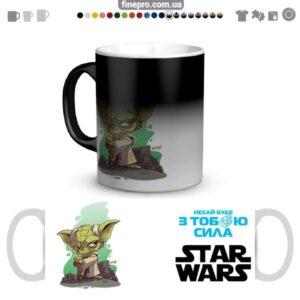"""Чашка хамелеон """"Star Wars"""" - Йода"""
