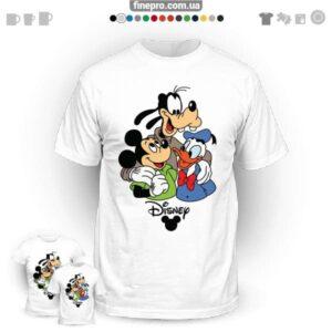 "Футболка з принтом ""Disney"" - Three amigo"
