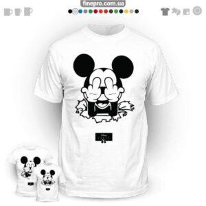 "Футболка з принтом ""Disney"" - Angry Mickey"