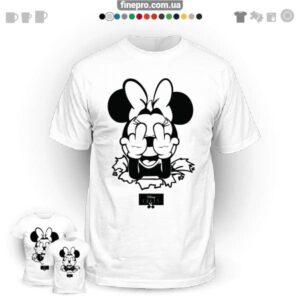 "Футболка з принтом ""Disney"" - Angry Minnie"