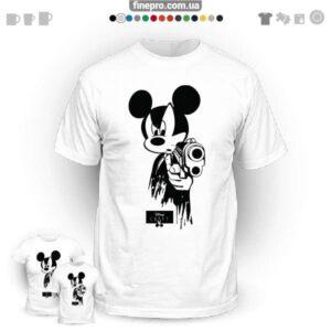 "Футболка з принтом ""Disney"" - Gangster Mickey"