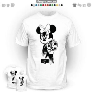 "Футболка з принтом ""Disney"" - Gangster Minnie"
