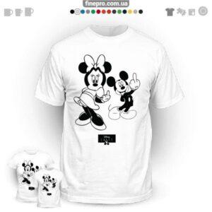 "Футболка з принтом ""Disney"" - Minnie & Mickey"